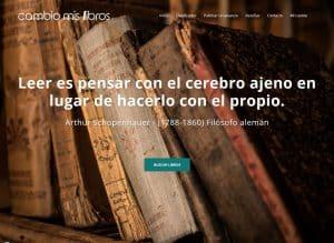 Diseño web Cambio mis libros