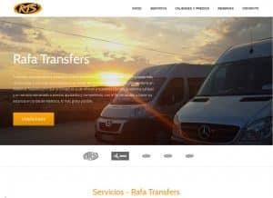 Diseño web Rafa Transfers