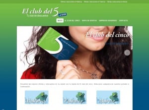 Diseño web Mallorca - El club del cinco