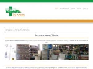 Diseño web Farmacia Maldonado Valencia - Desarrollo web para farmacias