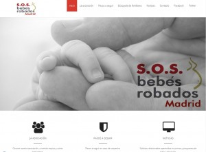 Diseño web Mallorca - SOS Bebés Robados Madrid